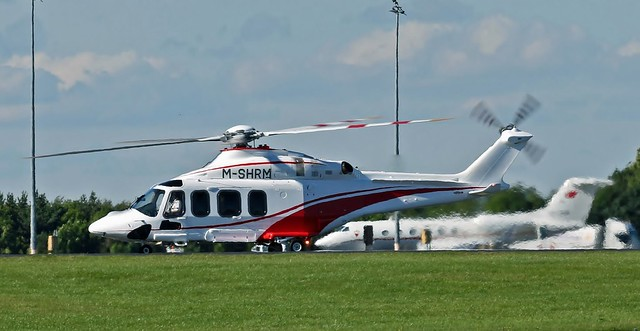M-SHRM AGUSTA WESTLAND AW-139 NEWCASTLE AIRPORT