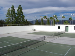 sport venue, tennis court, leisure centre, net,