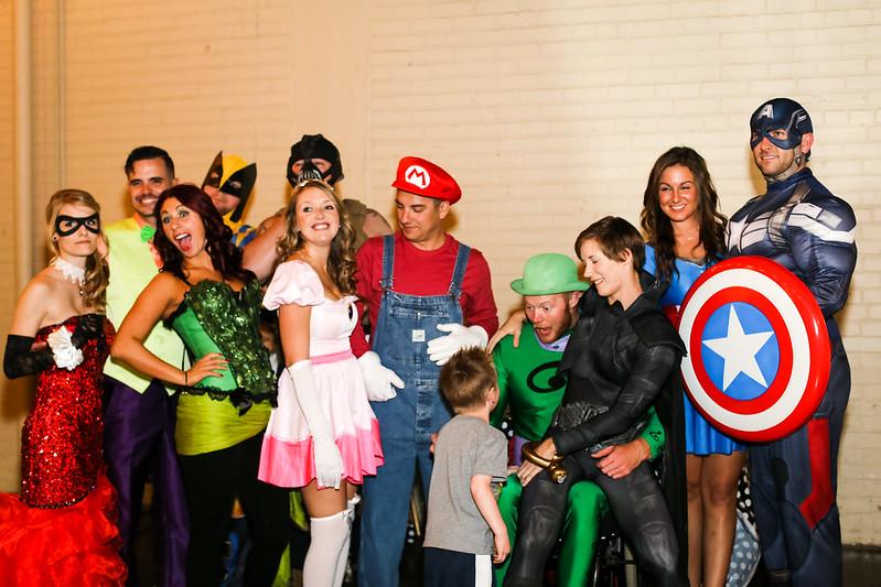 Alison & Ryan's superhero vs. villains costume party ...