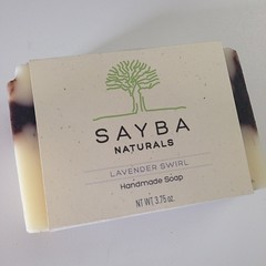 My mother's handmade, all-natural soap. Interested? Check out SaybaNaturals.com