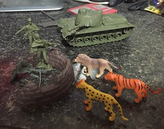 Amanda needed an army guy for a diorama, but the rest are ALL MINE! #Really12YearsOld