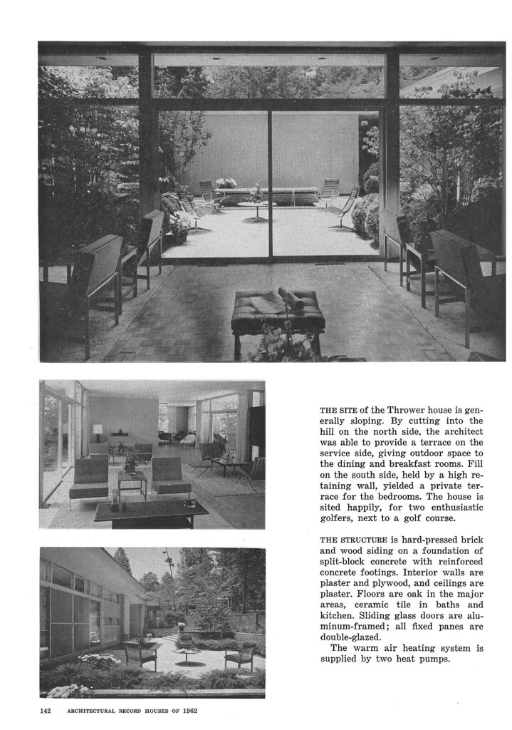 Thrower Residence, Sedgefield, NC, 1962 (Page 3 of 6)