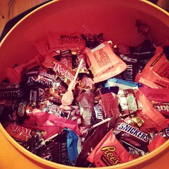 Let it begin! #halloween #candy