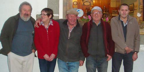16/11/2014 - Kerlanguis (Kermouster en Plougasnou) : Les finalistes du concours de boules plombées en doublettes mêlées