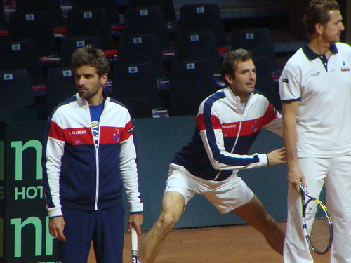 Arnault Clement, Benneteau Stretching, French Team Member (L-R)