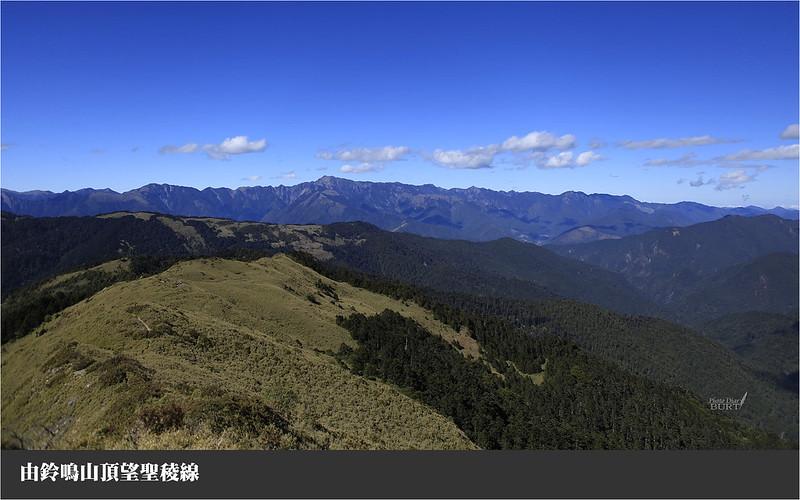 由鈴鳴山望向聖稜線