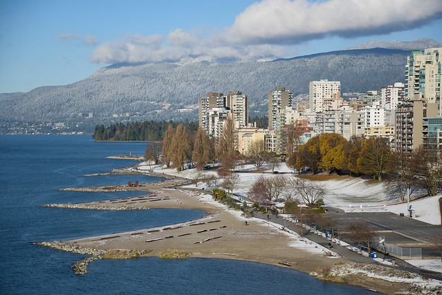 First Snow in Vancouver - Nov 29, 2014