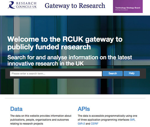 Gateway to Research homepage