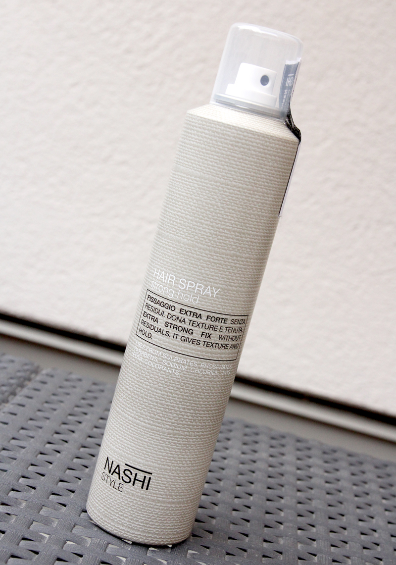 Nashi style hair spray strong hold