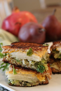 The Grilled Brussels Trifecta with Anjou Pear