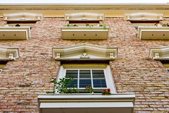 Eaves, pediments and flower boxes
