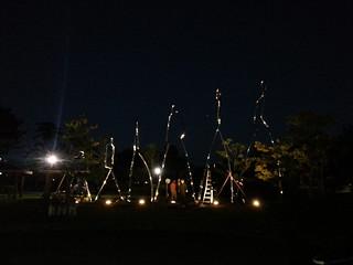 Vista de la obra iluminada.