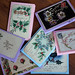 Handmade Christmas Cards using Vintage Postcards