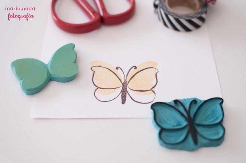 3estampado en capas - mariposa