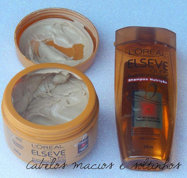 Testei: Shampoo e Máscara Óleo Extraordinário da Elséve