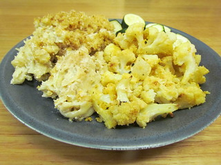 Mac-Oh-Geez; Almond Roasted Cauliflower