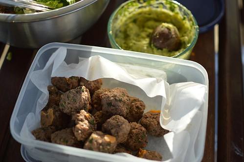 Meatballs & guacamole