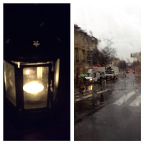 В Будапеште потоп, но это еще полбеды! Впридачу отключили электричество у меня на раЕне, так что у нас с Петей было романтичное утро при свечах ( главное, было их найти, но тут помог крымский фонарик!) Газ в трубе есть, но электроподжиг , конечно же, не р