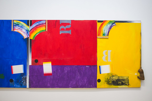 A colorful piece by Robert Rauschenberg at Amsterdam's Stedelijk Museum.