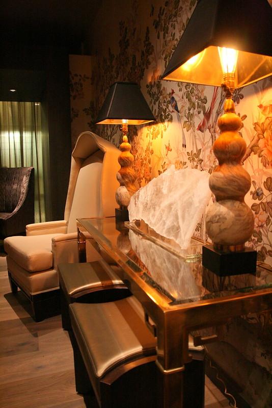 Posh furnishings in the VIP room