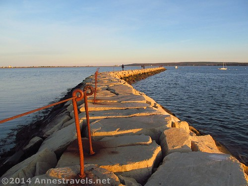 The Plymouth Jetty, Plymouth, MA