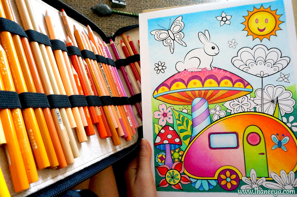 Teardrop Trailer Coloring Page Art By Thaneeya McArdle
