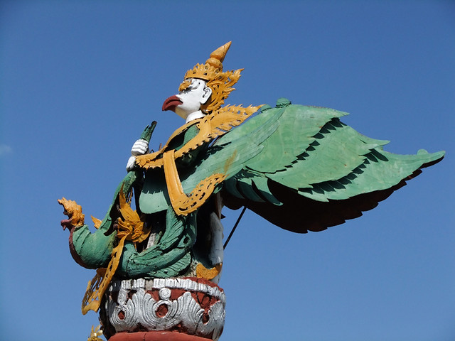 Winged God at Kuthodaw Pagoda in Mandalay