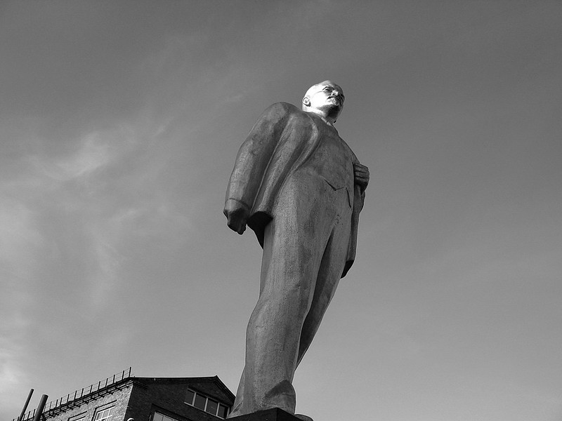 Lenin at a chemical plant