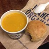 Lunchin today, chicken, pumpkin and chilli soup, super yummy :) #planetorganic #soup #chicken #chilli #pumpkin #lunch #gettingwarm