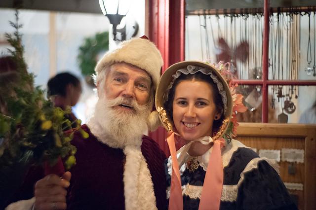 J and Santa