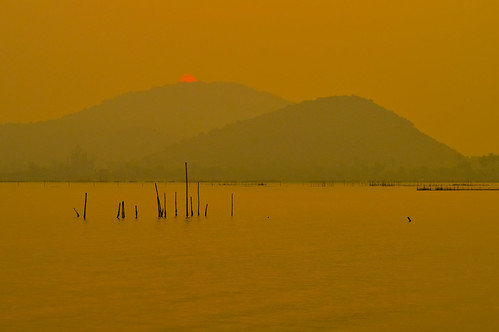 morning winter sun mountain lake nature water colors sunrise nikon december hill lagoon layers ganjam 2014 gopalpur nikond3200 chilika chilka rambha chilkalake gopalpuronsea odisha
