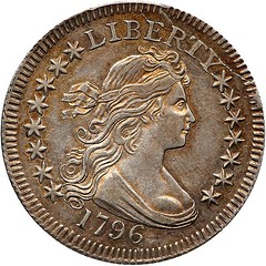 Lot 1260 1796 Draped Bust Quarter Dollar obverse