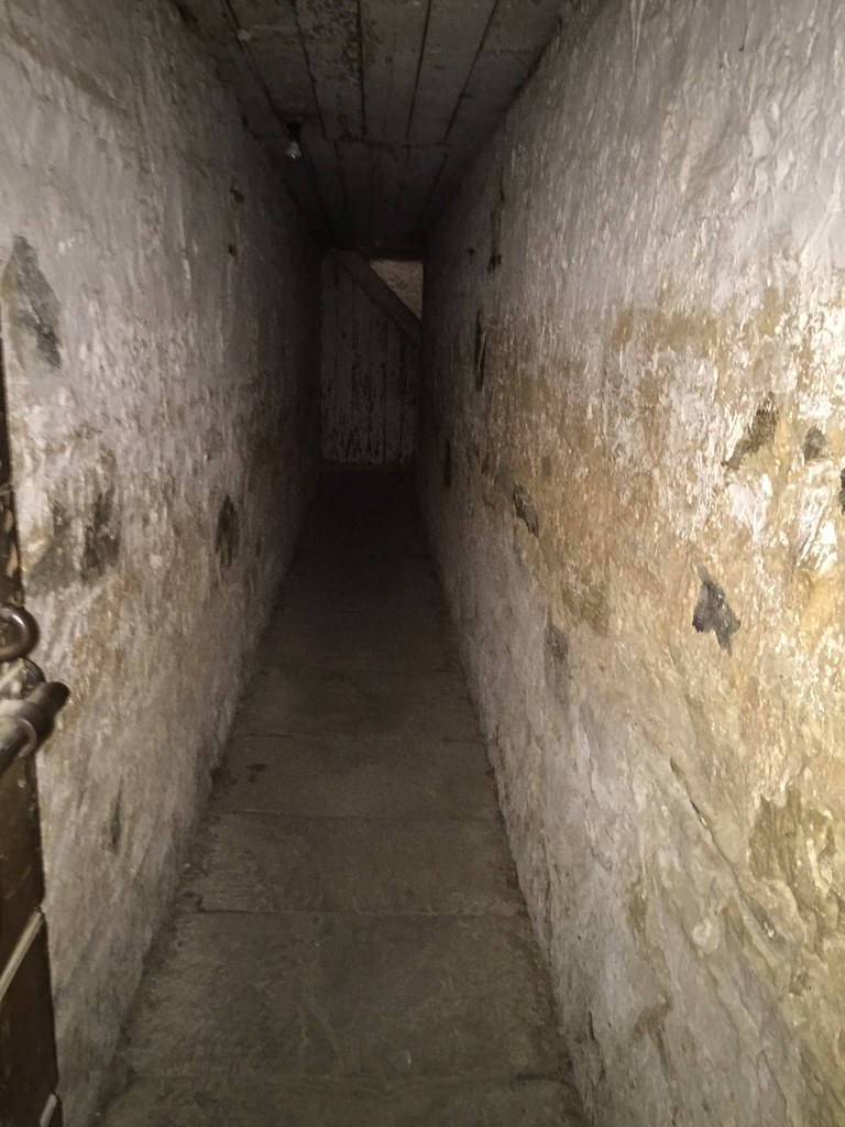 Poorly ventilated passageway from the chapel to the convicts cells.