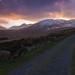 Masa Tiompan walking route sunset by Alan Cronin Beara Huntin.