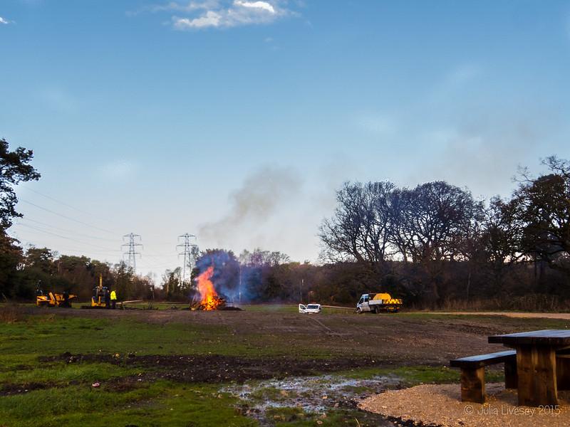 Someone's having a large bonfire