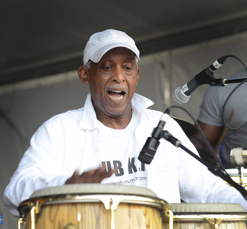 Bill Summers at Jazz Fest 2016.  Photo by Leon Morris.