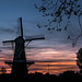 Sunset on Liberty-day in Holland