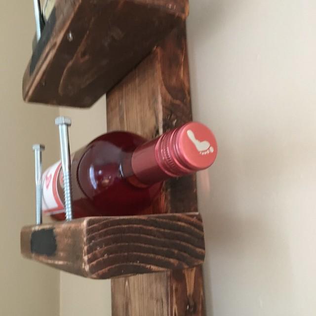 DIY wine rack