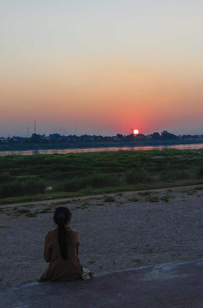 Solnedgang i Ventiane