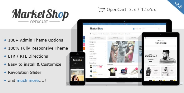 MarketShop v2.8 - Multi-Purpose OpenCart Theme