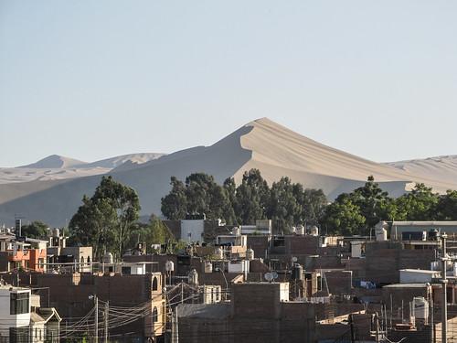 Ica: vue de notre hôtel sur les dunes