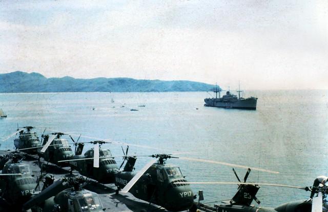 FLIGHTDECK USS IWO JIMA VIETNAM 1965