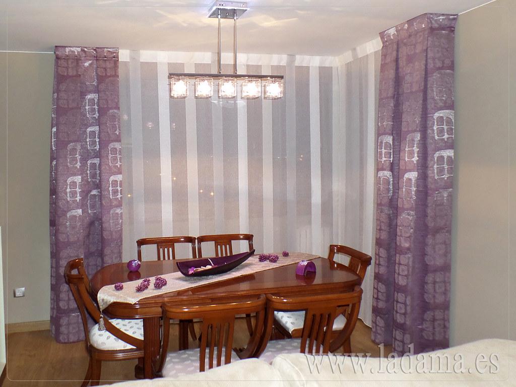Fotograf as de cortinas en salones modernos la dama - Disenos de cortinas para salones ...