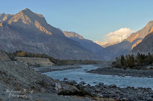 autumn pakistan sunset snow mountains river landscape nikon peace hunza range gilgit hindukush ghizar gilgitbaltistan