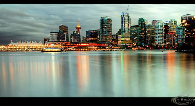 Vancouver at dusk, BC, Canada