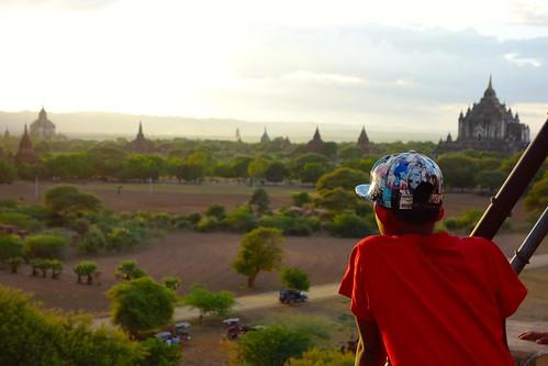 Local kids watching sunset Bagan