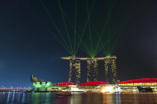 The wonderful show on Marina Bay Sands Hotel