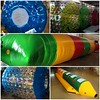 Orden lista para nuestro cliente en Bolivia! rollos acuáticos personalizados en TPU + Catapulta + Banana Inflable. #aquaorb #inflables visita www.aqua-orb.com para solicitar cotización! #bolivia #inflablesacuaticos #juegosinflables #rolloacuatico #waterro