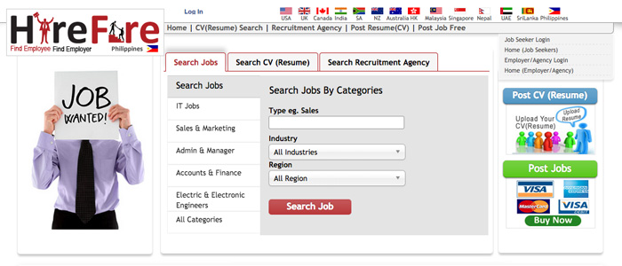 Job Search Websites in the Philippines - Hire Fire Philippines