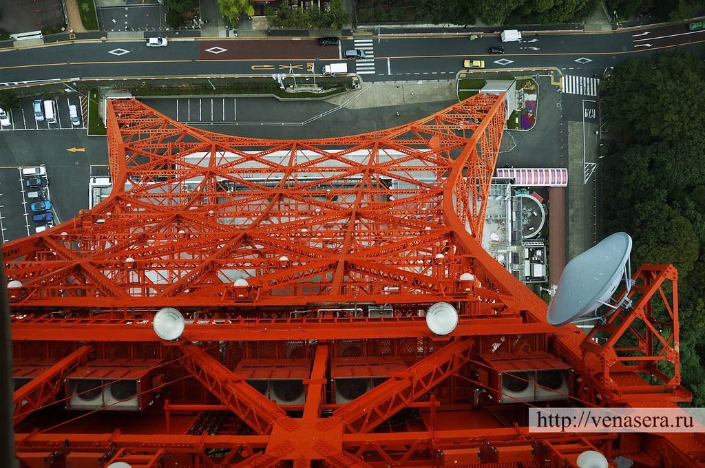 Вид из главной обсерватории. Tokyo Tower. Токийская башня.
